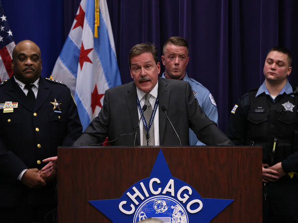 Chicago police Commander Kevin Duffin, speaking during a news conference in Chicago Thursday, describes the kidnapping and hate crime charges filed against four black people who attacked a white man and livestreamed it on Facebook.