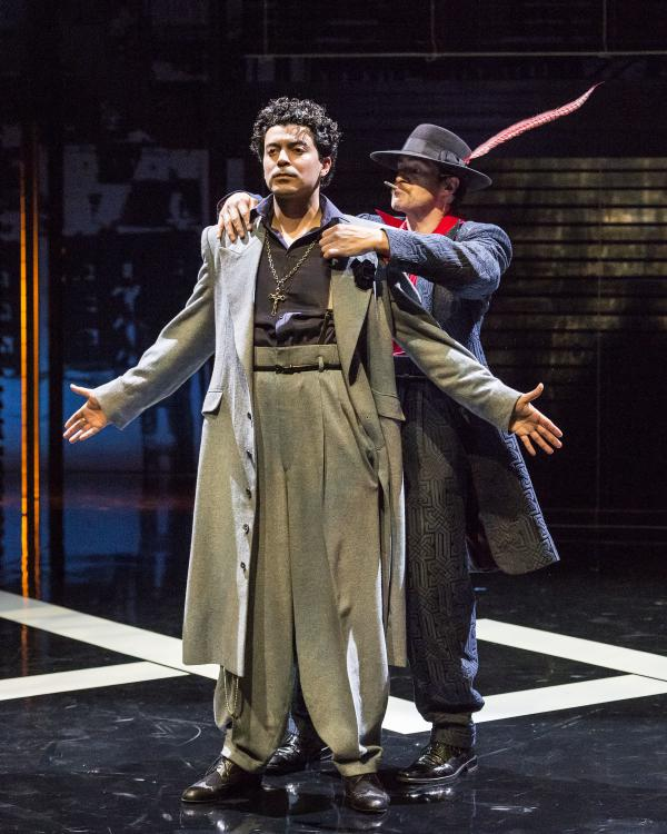 "In the revival of ""Zoot Suit,"" Demian Bichir plays The Pachucho, a kind of inner voice to Henry Reyna, played by Matias Ponce."