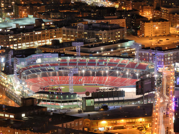 Fenway Park in Kenmore Square is home to the Boston Red Sox.