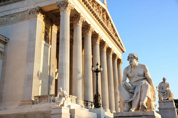 A statue of the Greek writer Thucydides sits outside the Austrian capital in Vienna. More than 2,000 years ago, he noted the friction that led to war between an established power, Sparta, and a rising power, Athens. A new book by Harvard professor Graham Allison makes a comparison with the relationship between the U.S. and China.