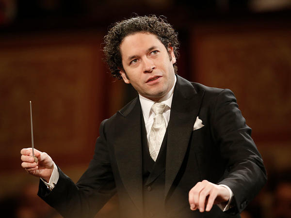 Venezulean conductor Gustavo Dudamel, conducting in Vienna, Austria, in January 2017.