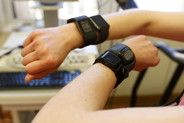 Researchers had participants wear the fitness trackers while walking or running on a treadmill and while riding an exercise bike to determine how well the trackers measured heart rate and energy expenditure.