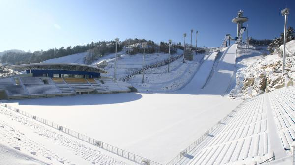 An undated file photo of the ski jumping center in PyeongChang, South Korea.