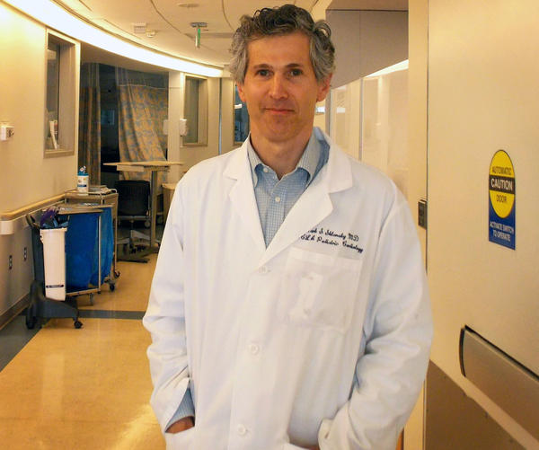 Mark Sklansky, a pediatric cardiologist and self-described germaphobe, tested a new method for limiting the spread of germs: a handshake-free zone. He tested it in two UCLA neonatal intensive care units.
