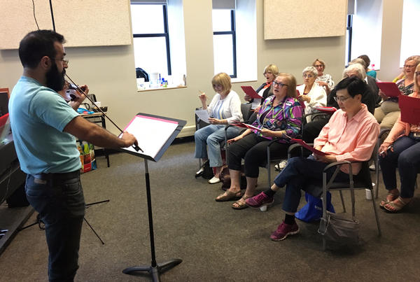 Most of the people in a choir at Ryerson University in Toronto have joined a study testing how practicing music might help people with hearing loss handle noisy environments better.