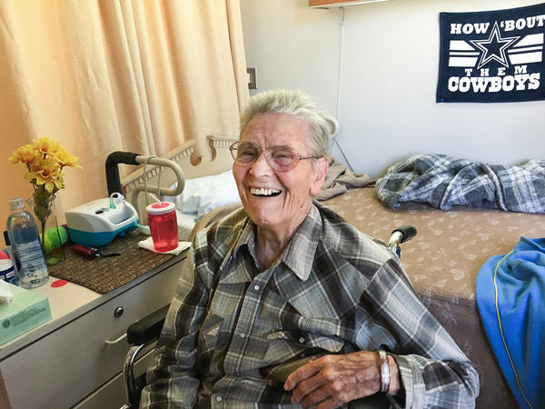 Former bookkeeper Betty Redlin, 88, broke a hip a few years ago and was never able to walk again. She's on Medi-Cal, California's version of Medicaid.