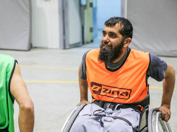 Mohammadullah Amiri, who was paralyzed when he was a child, has transformed his life since he started playing wheelchair basketball in Afghanistan.