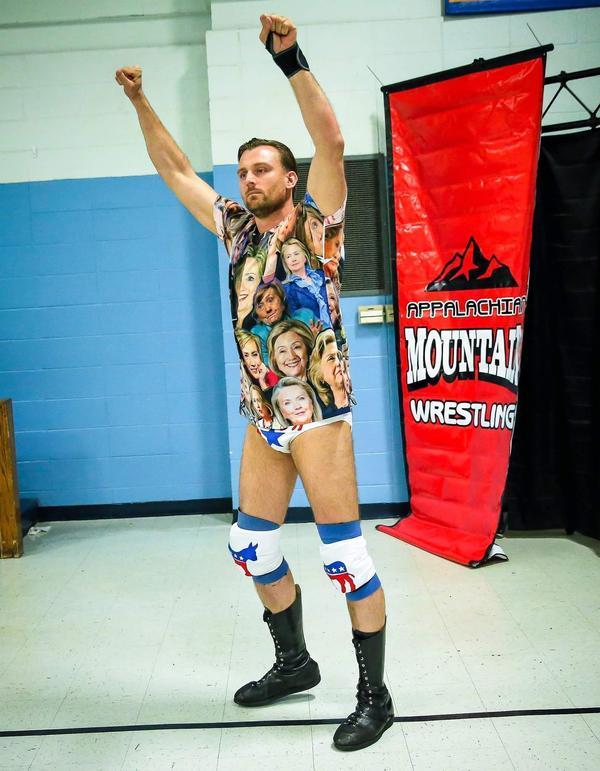 Daniel Harnsberger is Appalachian Mountain Wrestling's Dan Richards, the Progressive Liberal, a trash-talking East Coast elite.