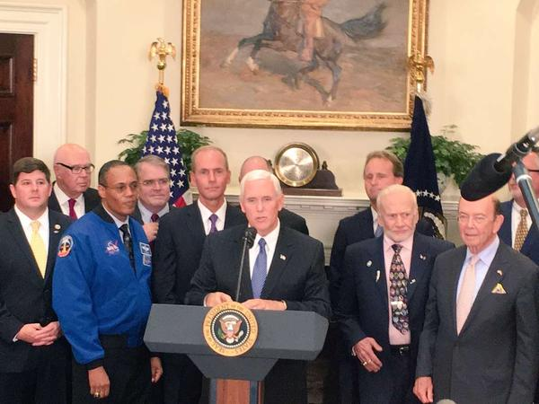 Vice President Mike Pence will lead the National Space Council.