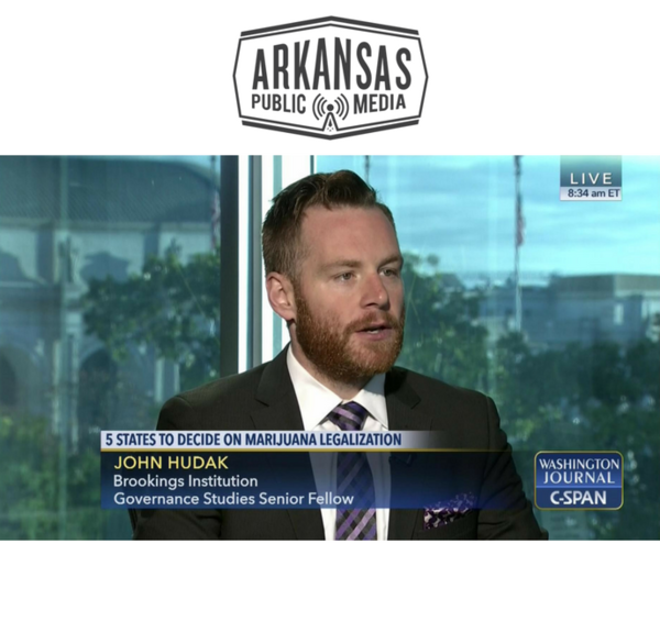 Brookings Institution senior fellow John Hudak talking about the politics and policy of marijuana legalization on C-SPAN in 2016.