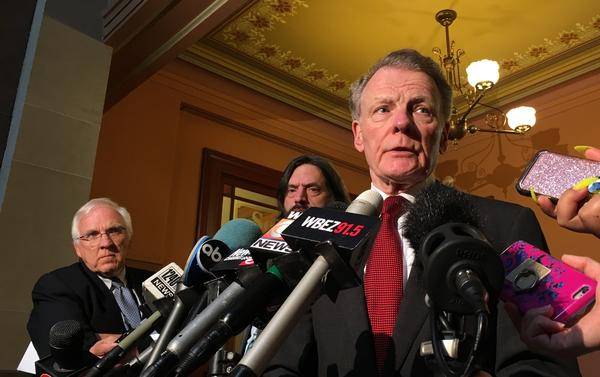 House Speaker Michael Madigan told reporters he's pleased with the response of bond rating agencies to legislative action to pass a state budget.
