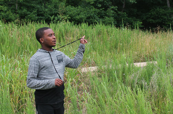 Kendric Carlock describes the layout of Wyman Center in Eureka, where he's interning this summer at a teen leadership program. After he graduates, the college senior wants to work at a nonprofit that aims to increase college access.