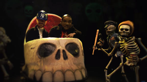 "A still from Run The Jewels' ""Don't Get Captured"" video."