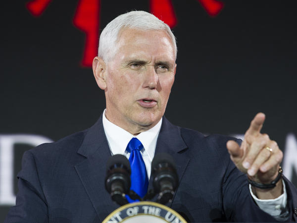 Vice President Mike Pence addresses the World Summit in Defense of Persecuted Christians earlier this year.