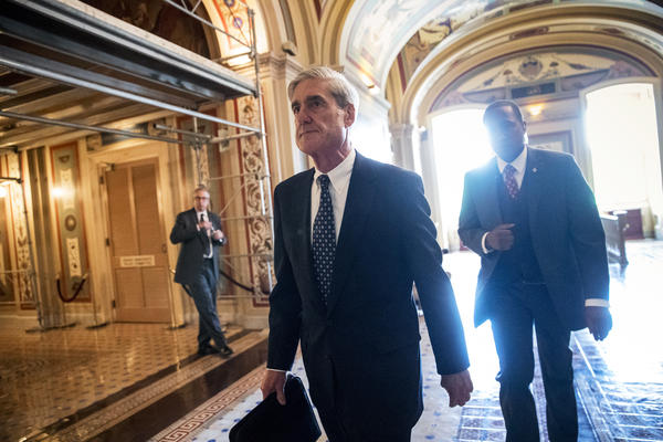 Special counsel Robert Mueller departs after a June 21 closed-door meeting with members of the Senate Judiciary Committee about Russian meddling in the 2016 election and possible connections to the Trump campaign.