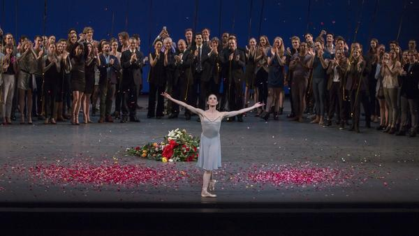 Whelan bows after her final performance with the New York City Ballet in 2014. She likens leaving the company to shedding a layer of skin.