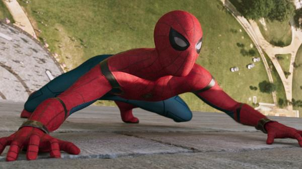 Mr. Parker Goes to Washington: Spidey (Tom Holland) scales the Washington Monument in<em> Spider-Man: Homecoming</em>.
