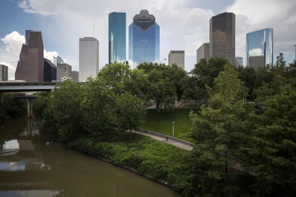 The Houston skyline,