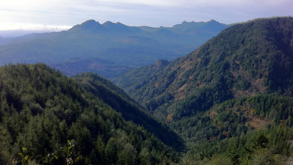 <p>A view along the hiking route from Portland to the Oregon coast.</p>