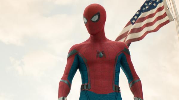 Spidey (Tom Holland) in <em>Spider-Man: Homecoming.</em>