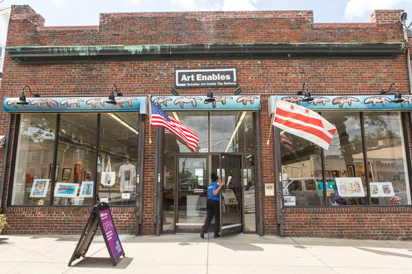 """""""Outsider Art Inside the Beltway"""" reads the sign above the door to Art Enables, an art studio, gallery and vocational program in Northeast Washington, D.C., that works with artists who have disabilities."""