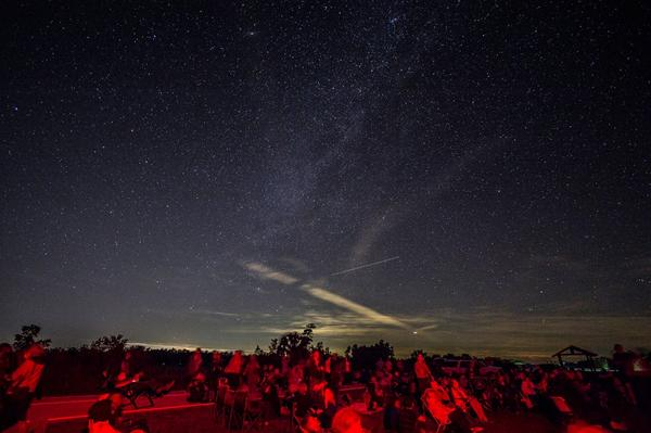 The night sky from Big Cypress National Preserve in January of 2017. Night sky advocates prefer sky gazers to use red lights when maneuvering around the park to limit light pollution.