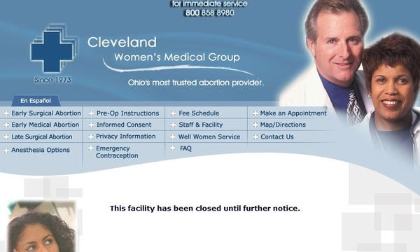 Homepage for Cleveland Women's Medical Group