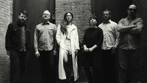 Offa Rex, a new group composed of The Decemberists and Olivia Chaney (center), reimagines traditional English folk music on <em>The Queen Of Hearts</em>.