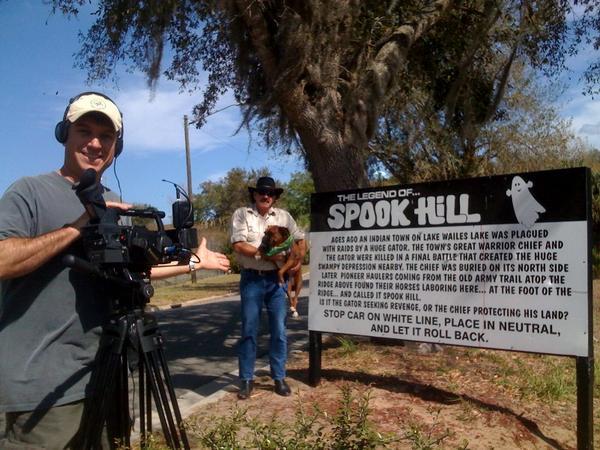 DP Felipe Marrou getting the money shot at Spook Hill in Lake Wales, FL