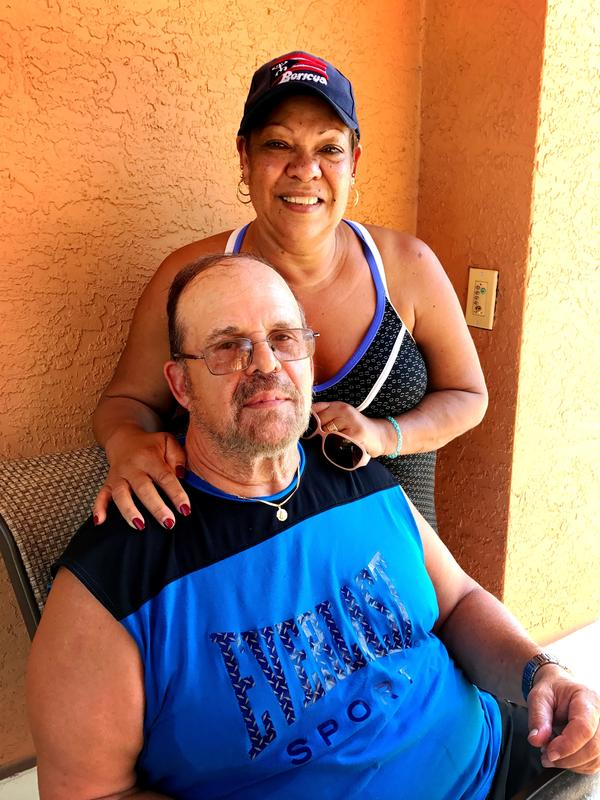 Michael and Shirley Colon recall the day violence shattered the quiet of their Tampa apartment complex.