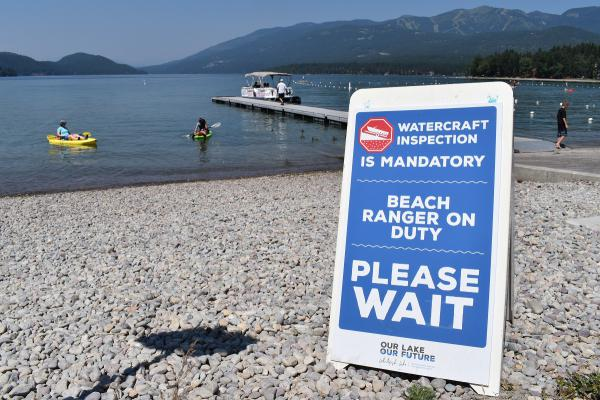 Boat inspections are mandatory at City Beach and Whitefish Lake State Park this season