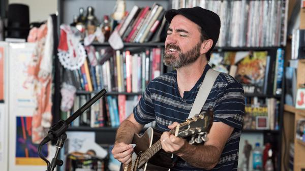 James Mercer of The Shins performs a Tiny Desk Concert on June 19, 2017. (Liam James Doyle/NPR)