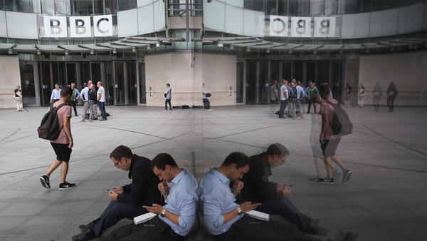 A general view outside BBC Broadcasting House at Portland Place in London on Wednesday, the day the public broadcaster published the pay of its top-earning employees.