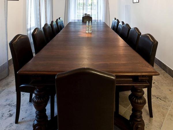A board room.