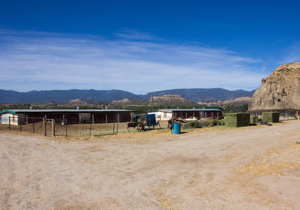 The goat dairy at Skyline Correctional Center is set on a hill overlooking the Arkansas River.
