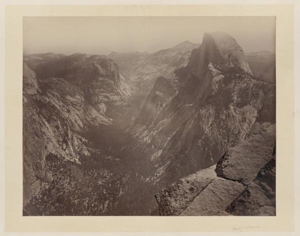 <p>Looking down on half dome</p>