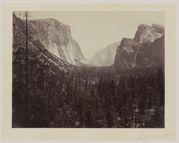 <p>Entrance into the valley of Yosemite </p>