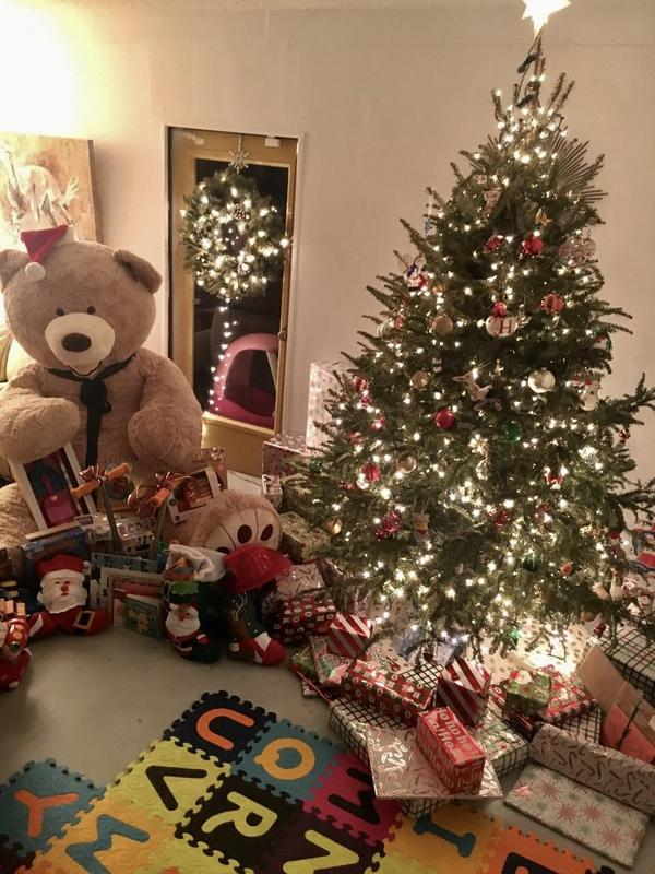 A giant Teddy Bear -- bigger than most of the kids the Dumbaugh's foster -- was a recent Christmas present.