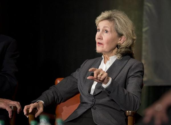 Former Sen. Kay Bailey Hutchinson speaks at the Texas Tribune Festival in 2014.
