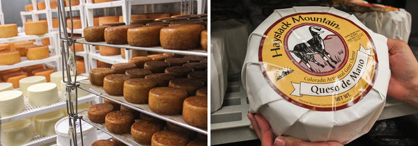 """Some of the cheeses that Haystack Mountain makes at its facilities in Longmont, Colo.<a href=""""http://www.haystackgoatcheese.com/"""" target=""""_BLANK""""></a>"""