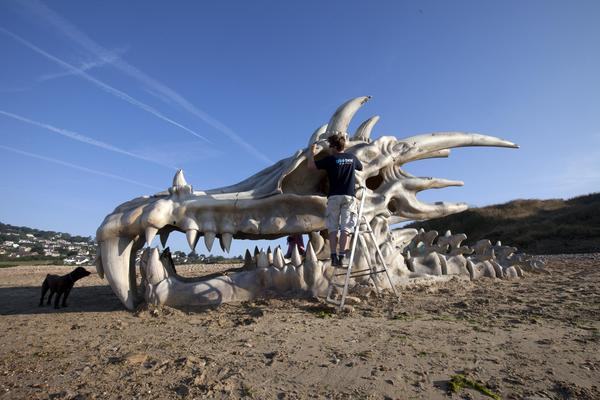 This 39-foot wide dragon skull was created to celebrate the launch of Game of Thrones Season 3 in 2013.