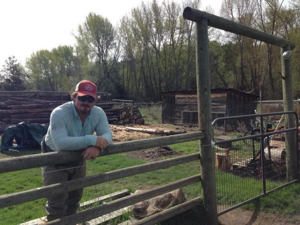 <p>James Nash helps his mother, Liza Jane McAlister, run 6 Ranch. He's always loved fishing and has started a fly fishing guide service there since returning from his service in the Marine Corps in Afghanistan.</p>