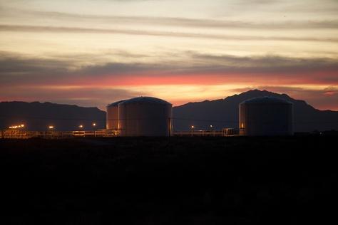 The Longhorn pipeline petroleum tank storage terminal in El Paso.
