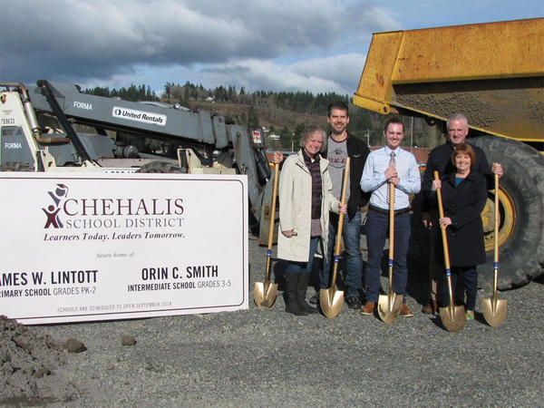 The Chehalis School District broke ground on one new elementary school, but a second has been put on hold after the Washington Legislature failed to pass a $4.1 billion capital construction budget.