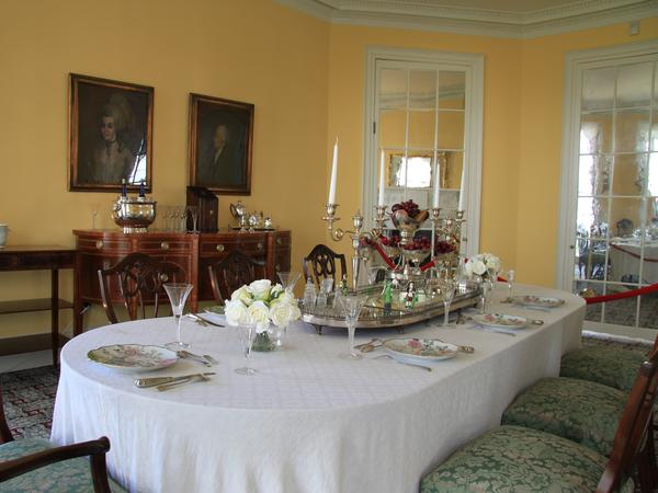 The dining room at the Hamilton Grange National Memorial in New York City. From a historical perspective, there are scant clues into Alexander Hamilton's diet.