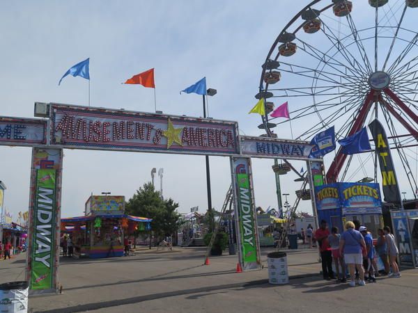The Midway at the Ohio State Fair, where the Fireball ride (not pictured) is located.