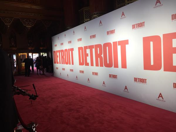 """The red carpet at the """"Detroit"""" premiere on Tuesday night."""