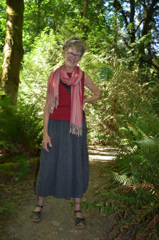 <p>Catherine Alexander walks in Seward Park every day, and she was the first to notice the sword fern die-off.</p>