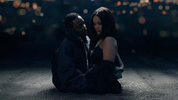 "Kendrick Lamar and Rihanna star in the video for ""Loyalty."""