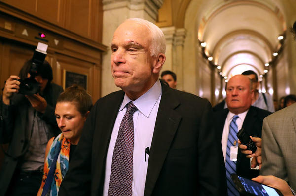 Sen. John McCain says defeat of the Republican plan to repeal the Affordable Care Act is a chance for a fresh start.